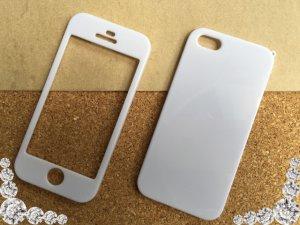 画像2: iPhone5/5s ハードケース 両面タイプ ホワイト 1枚