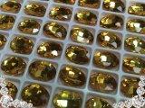 超A級ガラス/ビジュー/トパーズ/オーバル/5個14mm
