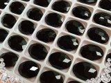 超A級ガラス/ビジュー/ジェット/オーバル/5個14mm