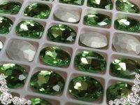超A級ガラス/ビジュー/ペリドット/オーバル/5個14mm