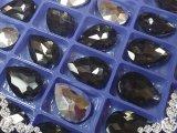 超A級ガラス/ビジュー/ブラックダイヤ/雫/14mm/5個