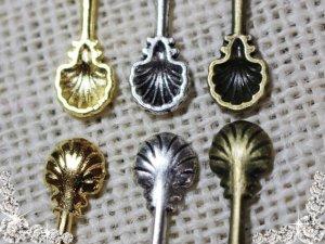 画像2: 【単品】貝殻風シェルスプーン 3色有/1個 mar