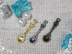 画像1: 【単品】貝殻風シェルスプーン 3色有/1個 mar