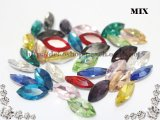 【MIX】超A級ガラス/ビジュー/マーキーズ/33粒入り/6mm×12mm★