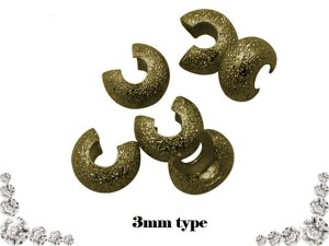 画像3: 【10個入り】つぶし玉カバー真鍮製 3色有