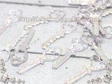 【10個入り】No.1080/鍵(カギ)/チャーム/シルバー