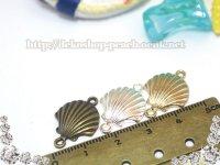 【単品】貝殻コネクター(ダブルカンシェル)3色有り