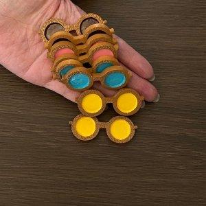 画像2: 【単品】木製風 丸いサングラス プラパーツD3-6