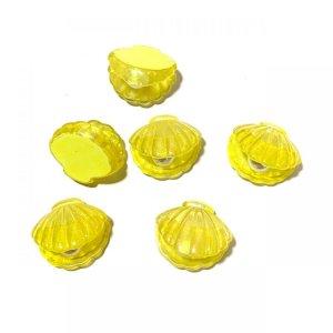 画像3: 【イエロー5個入り】立体オーロラ ■貝殻■パール入り 5個入りW-03